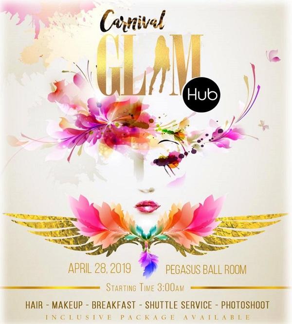 Carnival Glam Hub flyer